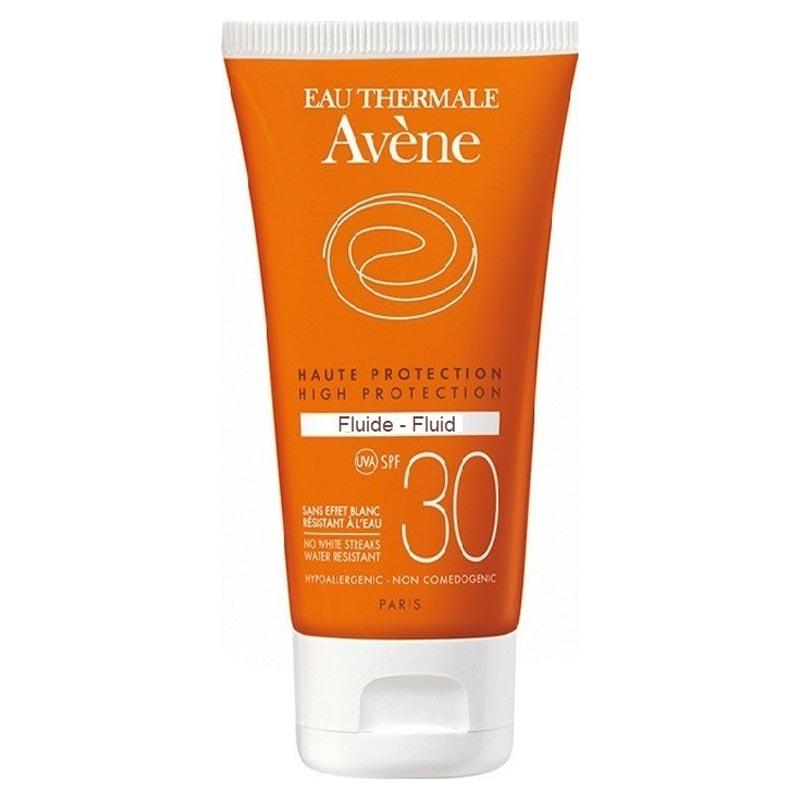 Avene Soins Solaires Fluide SPF30 Λεπτόρρευστη Αντηλιακή Προσώπου για Κανονικό/Μικτό / Λιπαρό Δέρμα 50ml