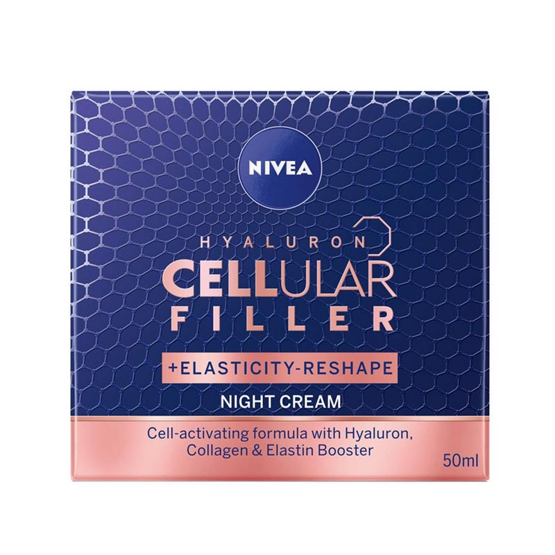 NIVEA Hyaluron Cellular Filler Νύχτας για Επαναφορά Ελαστικότητας 50ml