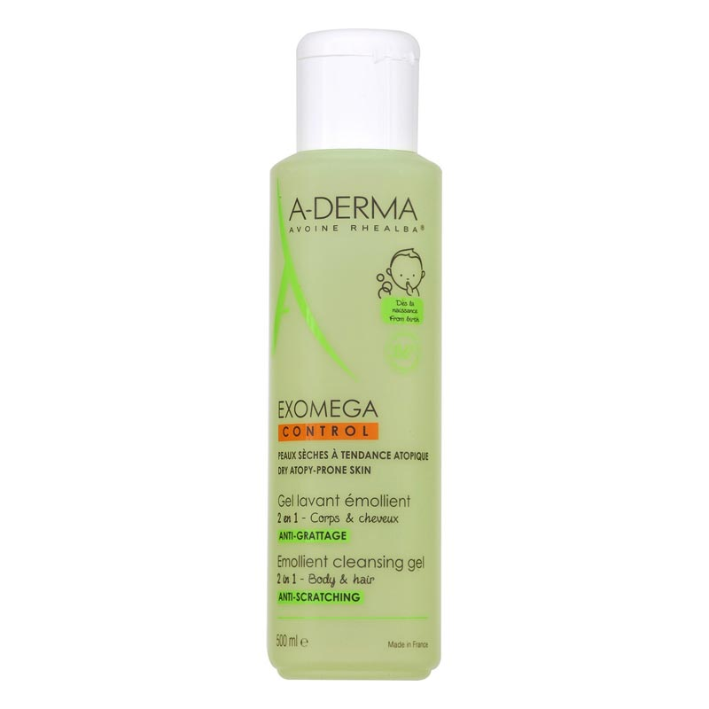 Aderma EXOMEGA Emollient Cleansing Gel Body & Hair 500ml