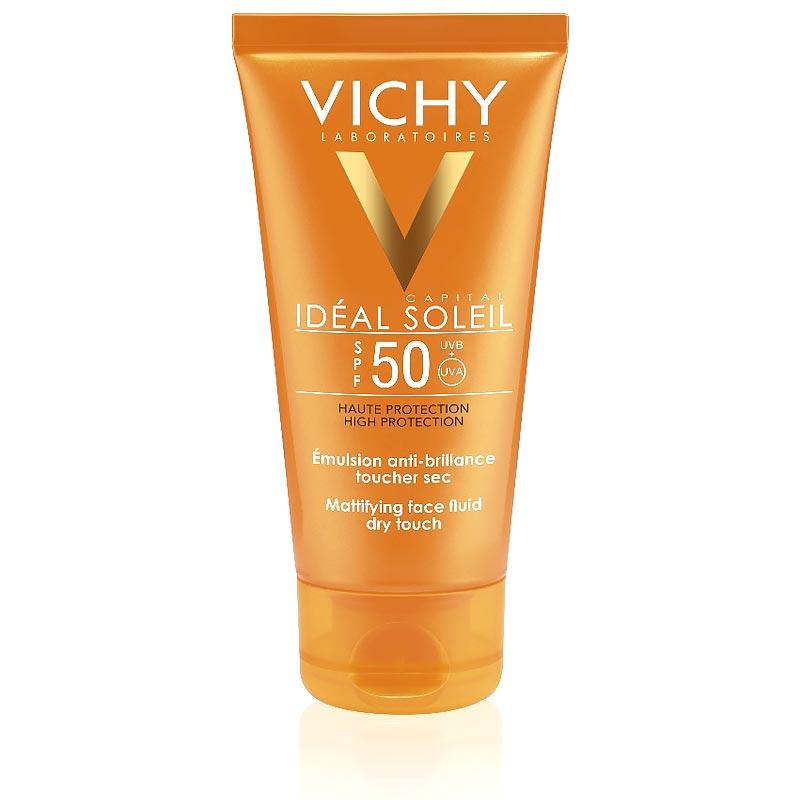Vichy Ideal Soleil Aντηλιακή Κρέμα Προσώπου SPF50 για Ματ Αποτέλεσμα 50ml