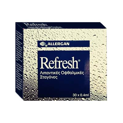 Allergan Refresh Λιπαντικές Οφθαλμικές Σταγόνες 30 X 0.4ml